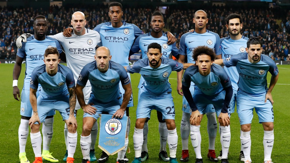 YOUTH AND EXPERIENCE: City's starting XI