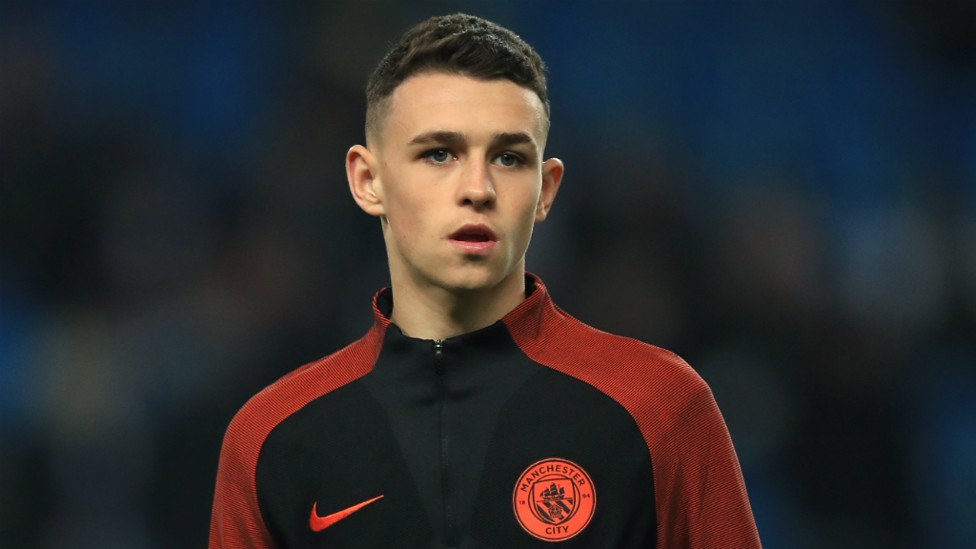 STARLET: 16-year-old Phil Foden was named on the bench