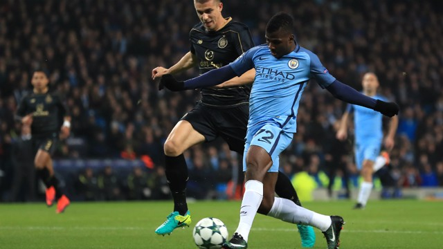 STRIKE: Kelechi Iheanacho smashes the ball beyond Craig Gordon and into the top corner