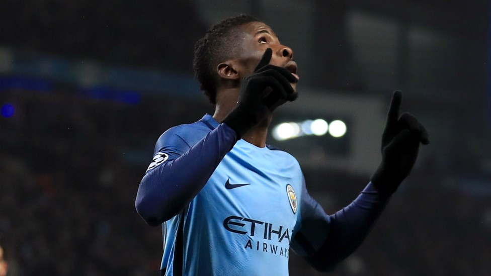 LOOKING UP: Kelechi Iheanacho enjoyed his wondergoal, as City wrapped up their group stage campaign with a 1-1 draw against Celtic