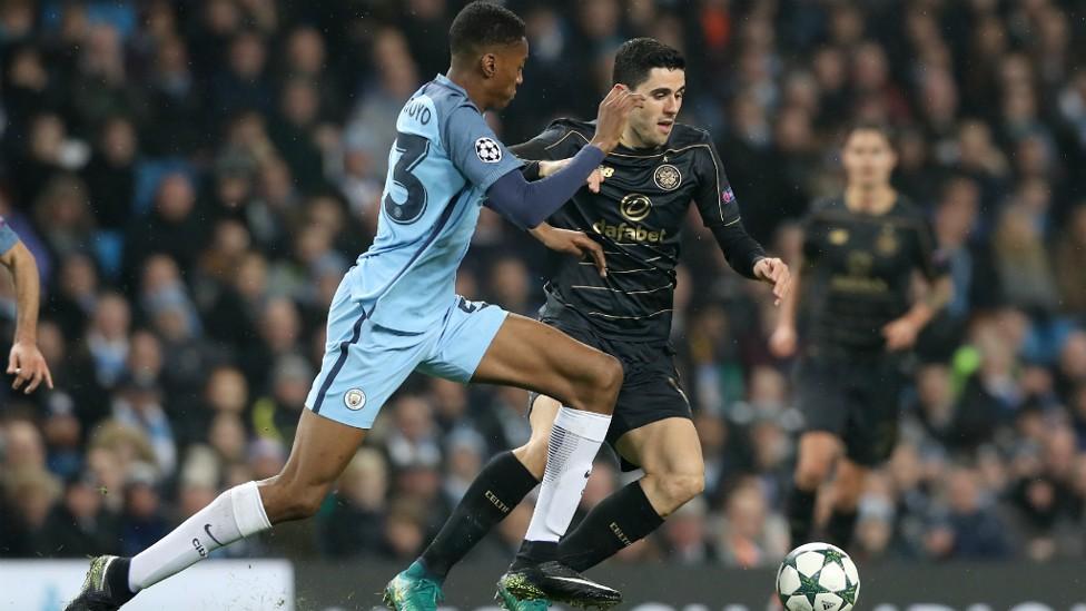 CHASE: Tosin Adarabioyo looks to regain the ball