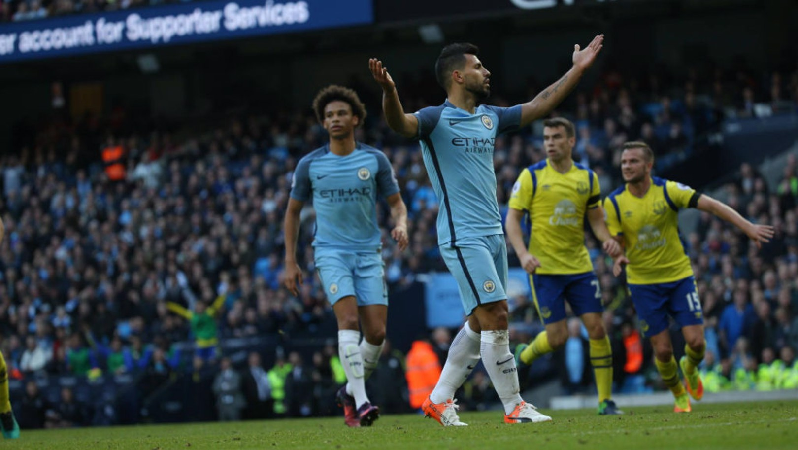 NOT AGAIN! Sergio Aguero sees his spot-kick saved