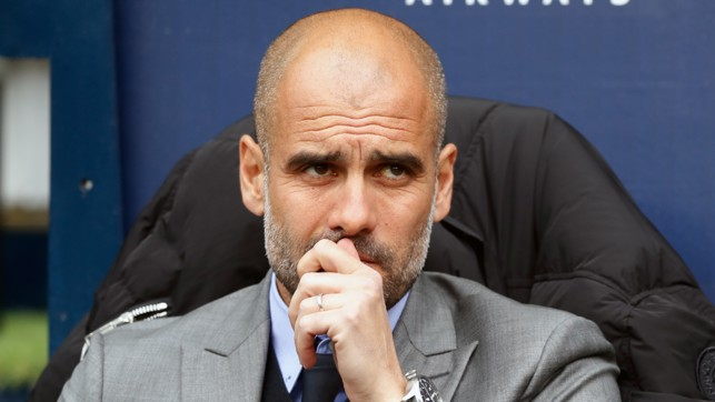PEP PONDERS: The boss looks on during in the early stages of the game.