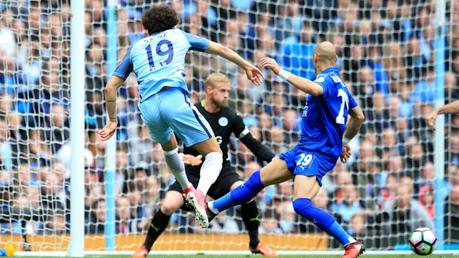SANE SHOT: Leroy goes close with an effort in the first half.