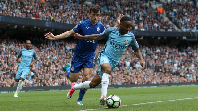 SEE YOU LATER: Sterling ghosts past Ben Chilwell.