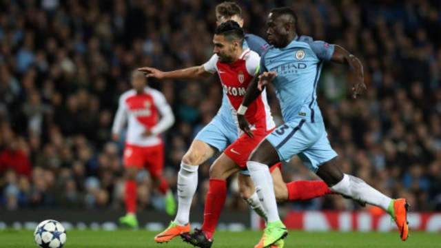 WHAT A NIGHT: Sagna reacts to a wonderful game at the Etihad