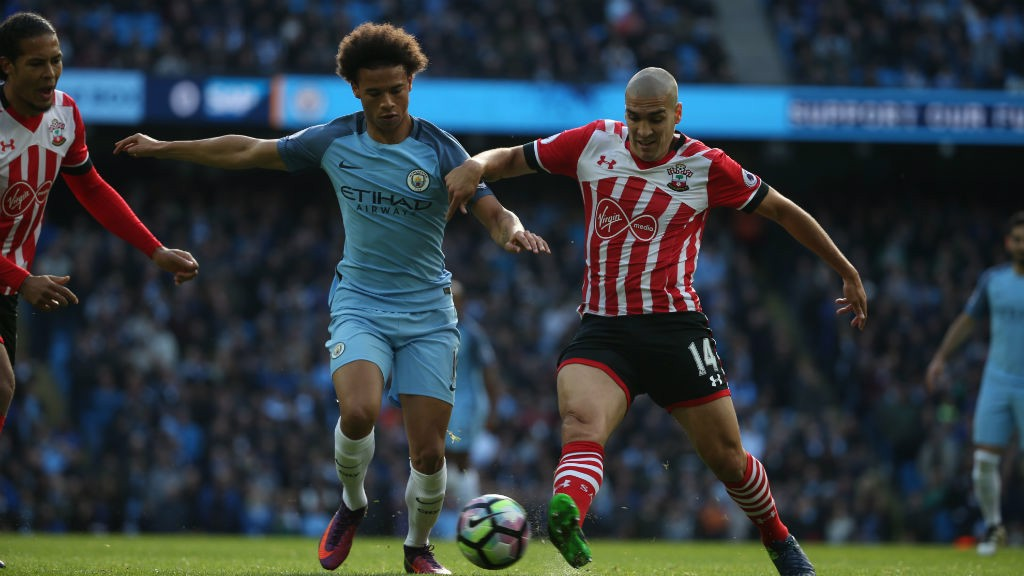 Winging It Sane Tries To Find A Way Past Oriol Romeu During A Spell Of
