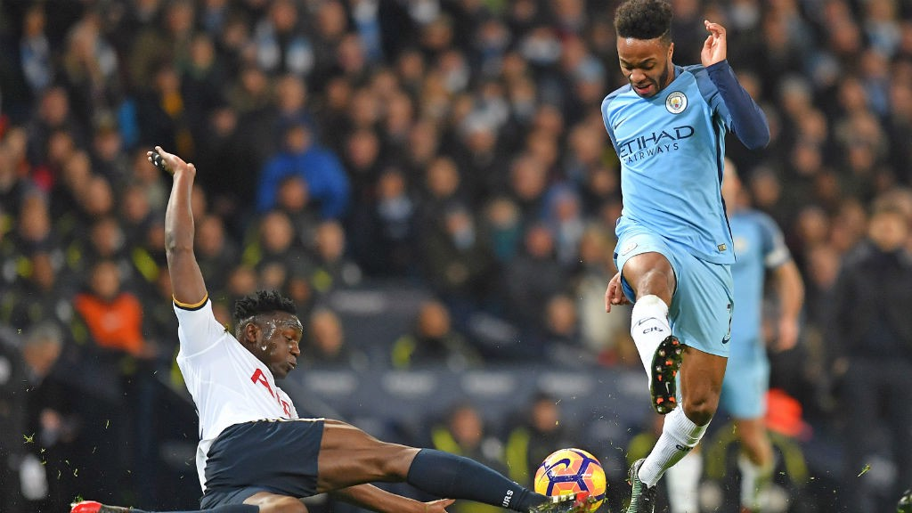 WING ATTACK: Raheem Sterling takes the game to Spurs