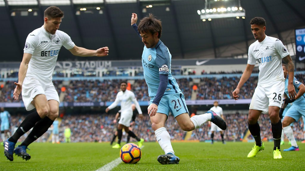 SILKY: David Silva has been majestic again so far