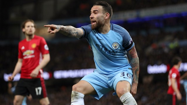 ROCK AT THE BACK: Nicolas Otamendi was pleased with City's response to the FA Cup semi-final defeat against Arsenal.