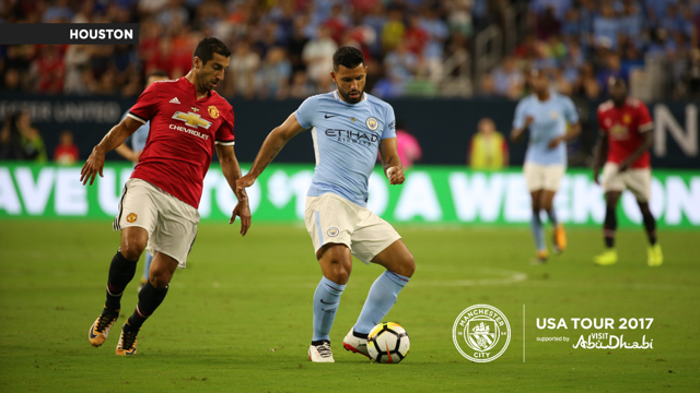 A CITY UNITED: Aguero on the ball