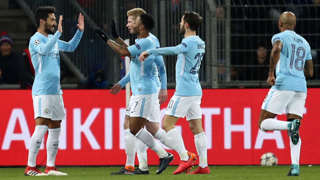 DEADLOCK BROKEN: Ilkay Gundogan celebrates heading City into an early lead.