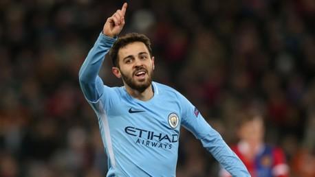 AT THE DOUBLE: Bernardo celebrates adding City's second.
