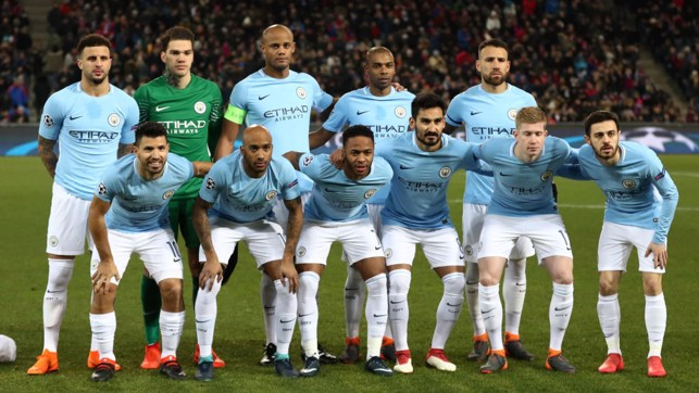 LINE UP: City were boosted with the return of Fabian Delph to the starting XI.