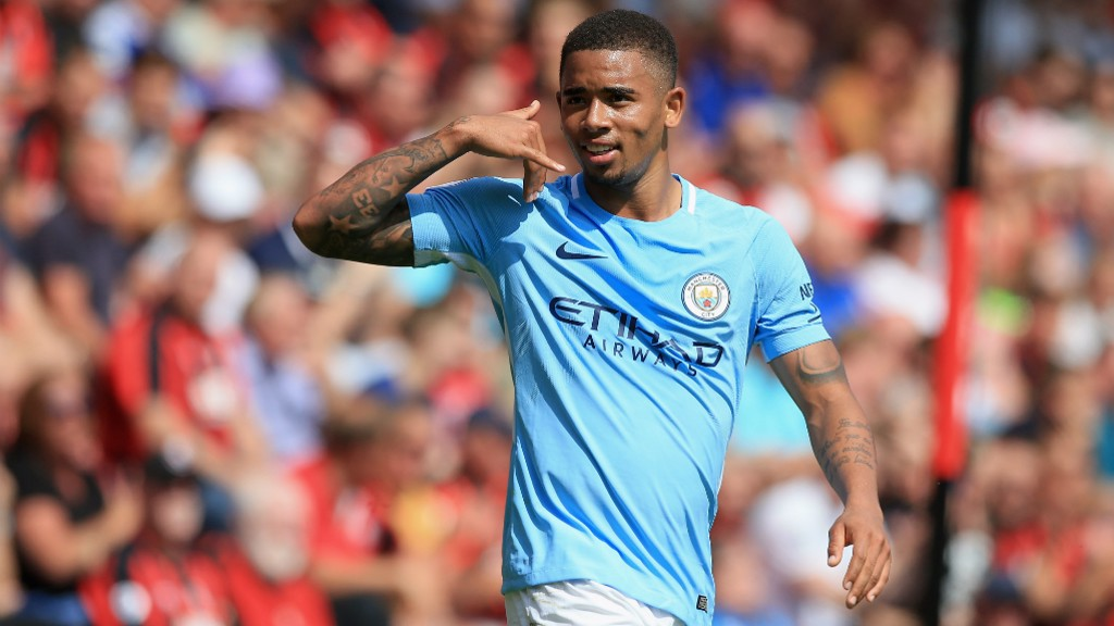 Image result for gabriel jesus man city 2017/18