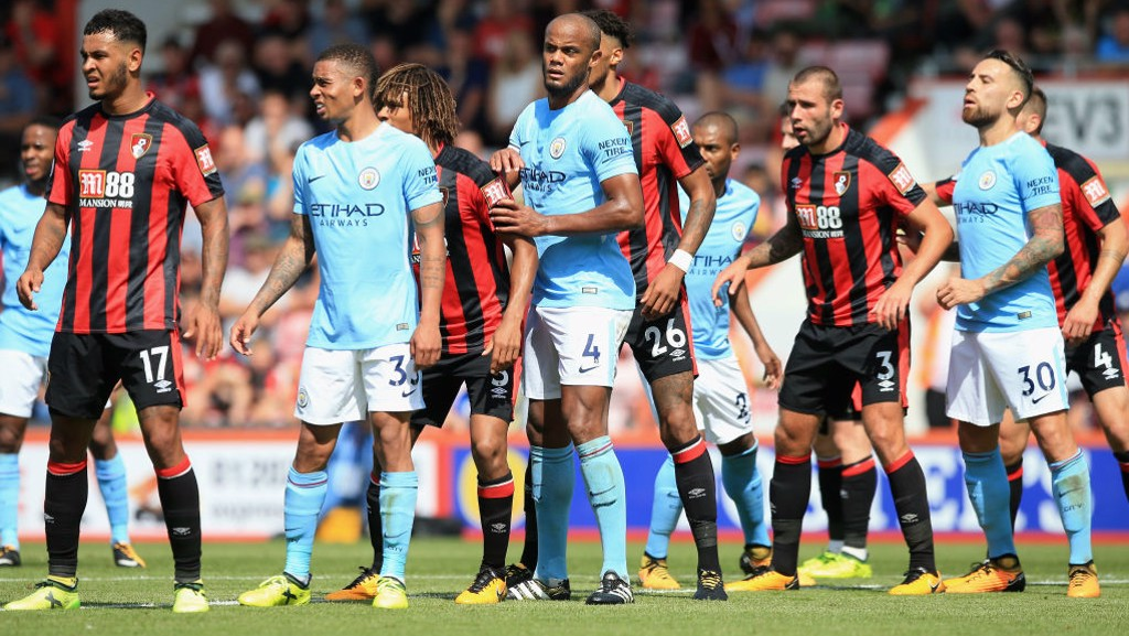 Image result for kompany city v bournemouth 2017