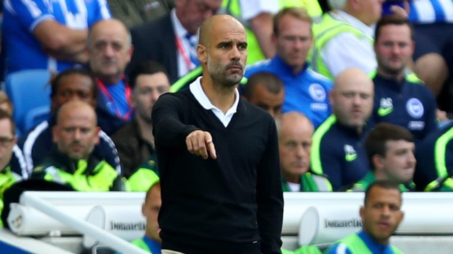 SATISFIED: Manchester City manager Pep Guardiola