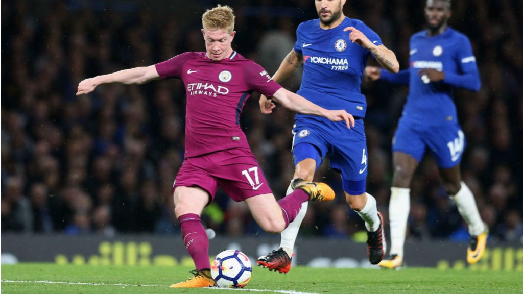 JUST CAPITAL: Kevin De Bruyne fires home his brilliant winner