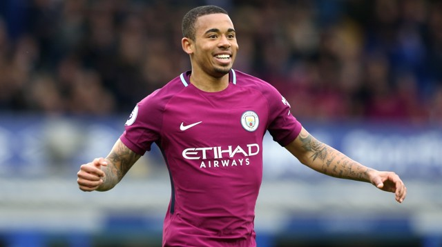 AT THE DOUBLE: Gabriel Jesus adds a second on 12 minutes, finishing off a sublime City counter-attack.