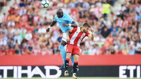 TOP PERFORMANCE: Eliaquim Mangala has an incredible display against Girona
