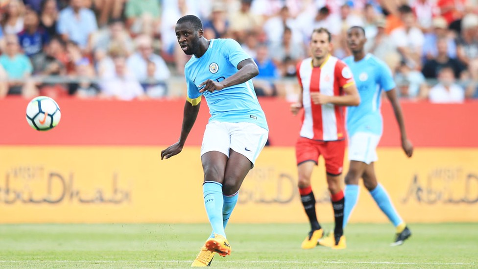 CONTROLLING: Yaya was the man in the middle against Girona