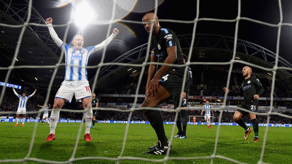 1-0 DOWN: Huddersfield take the lead late on in the first half.