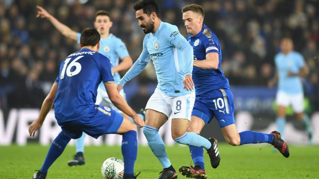 ORCHESTRATOR: Ilkay Gundogan's driving run was key to City's opening goal.