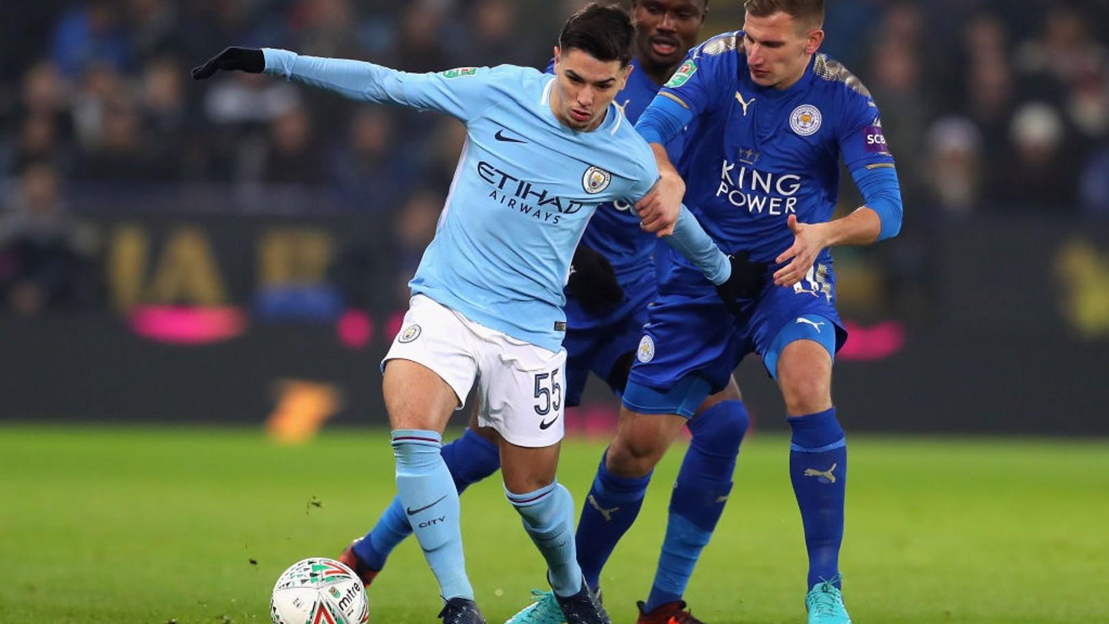 Brahim Díaz debutó como titular con el primer equipo ante el Leicester City