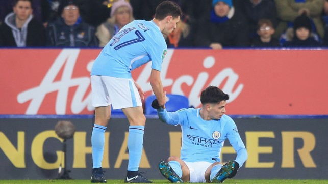 HELPING HAND: Phil Foden and Brahim Diaz both impressed in the East Midlands.