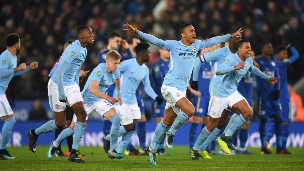 ALEGRÍA. El City superó al Leicester en la tanda de penaltis.