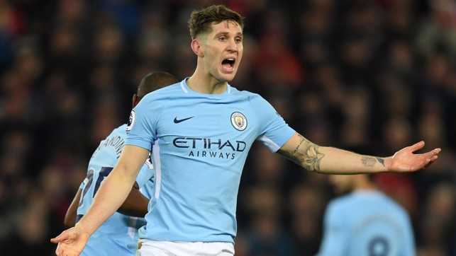 RALLYING CRY: John Stones's encouragement is in vain as City fall just short of a memorable comeback.