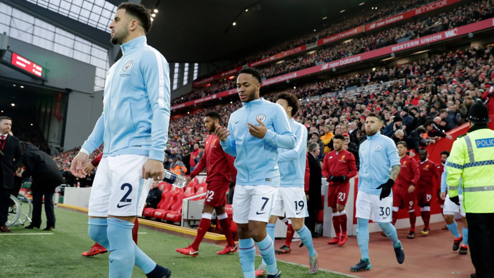 RETURN: Raheem Sterling back at Anfield after leaving for City in 2015.