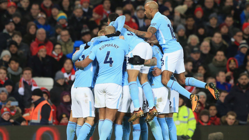 Image result for man united 1-2 man city celebration december 2017