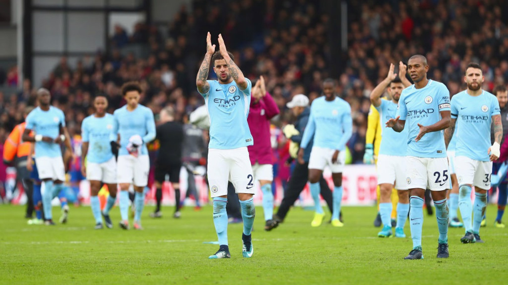 STALEMATE: Palace and City could not be separated at Selhurst Park in December 2017
