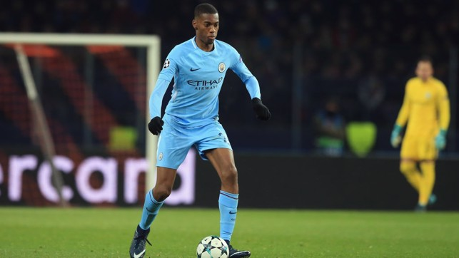YOUNGSTER: Tosin Adarabioyo confidently brings the ball out of defence.