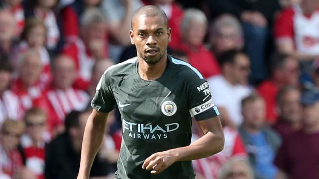 SKIPPER: Fernandinho sported the captain's armband