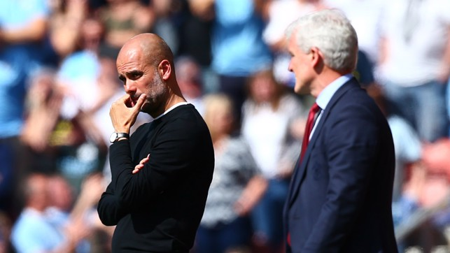 MANAGER'S NOTES: Pep Guardiola and Mark Hughes - current and former City bosses