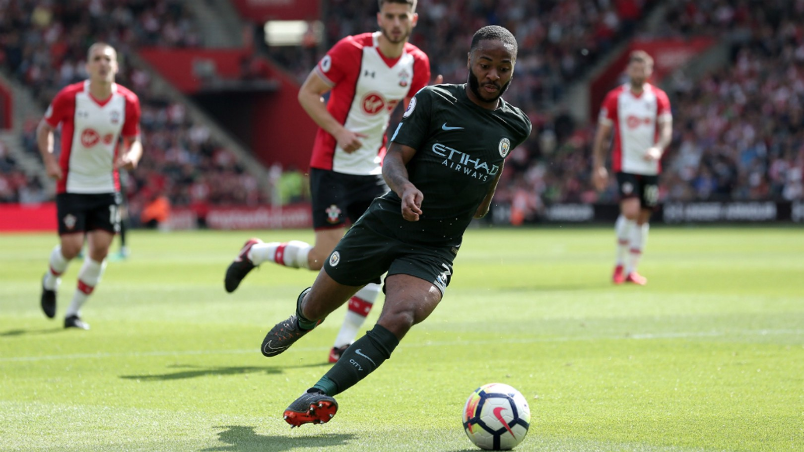 STERLING WORK: Raheem Sterling on the wing