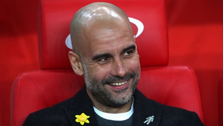 PEP WATCH: The manager watches on from the bench.