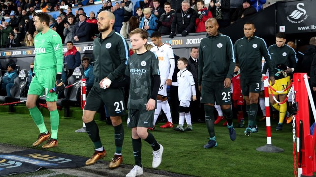 CAPTAIN FANTASTIC: David Silva skippers the side at the Liberty Stadium.