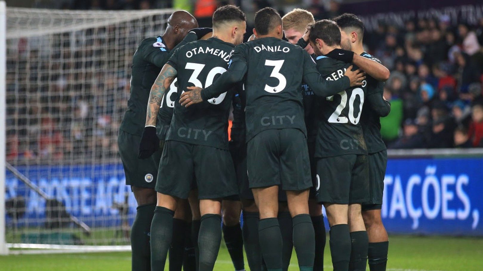 TOGETHER: A record-breaking, outstanding display as City make history with a 4-0 rout at Swansea