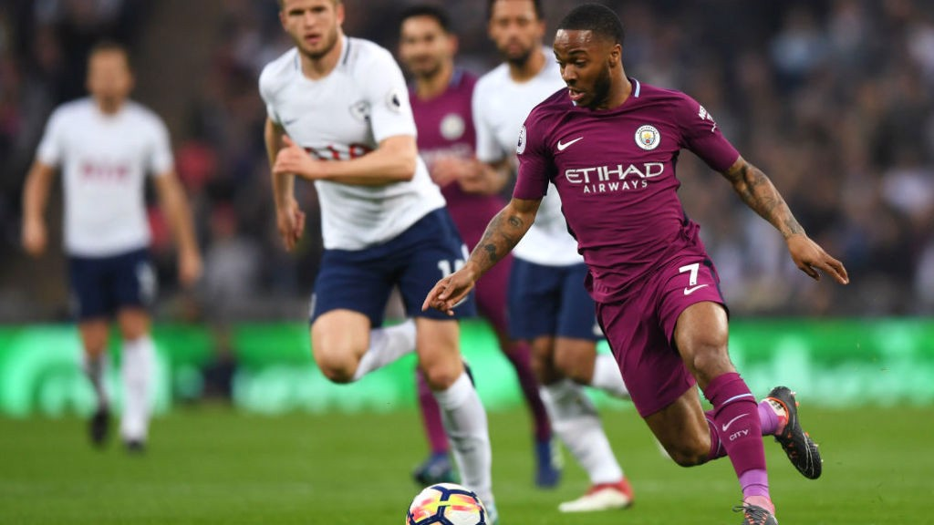 WING COMMAND: Raheem Sterling puts the Tottenham defence under yet more pressure