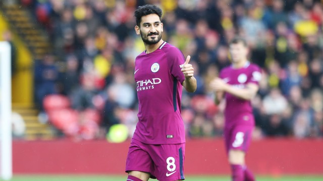 BACK IN THE GAME: Ilkay Gundogan