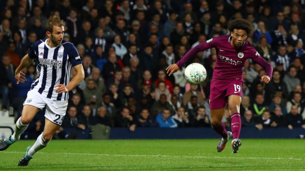 WINNING TOUCH: Leroy Sane curls home his superb second goal