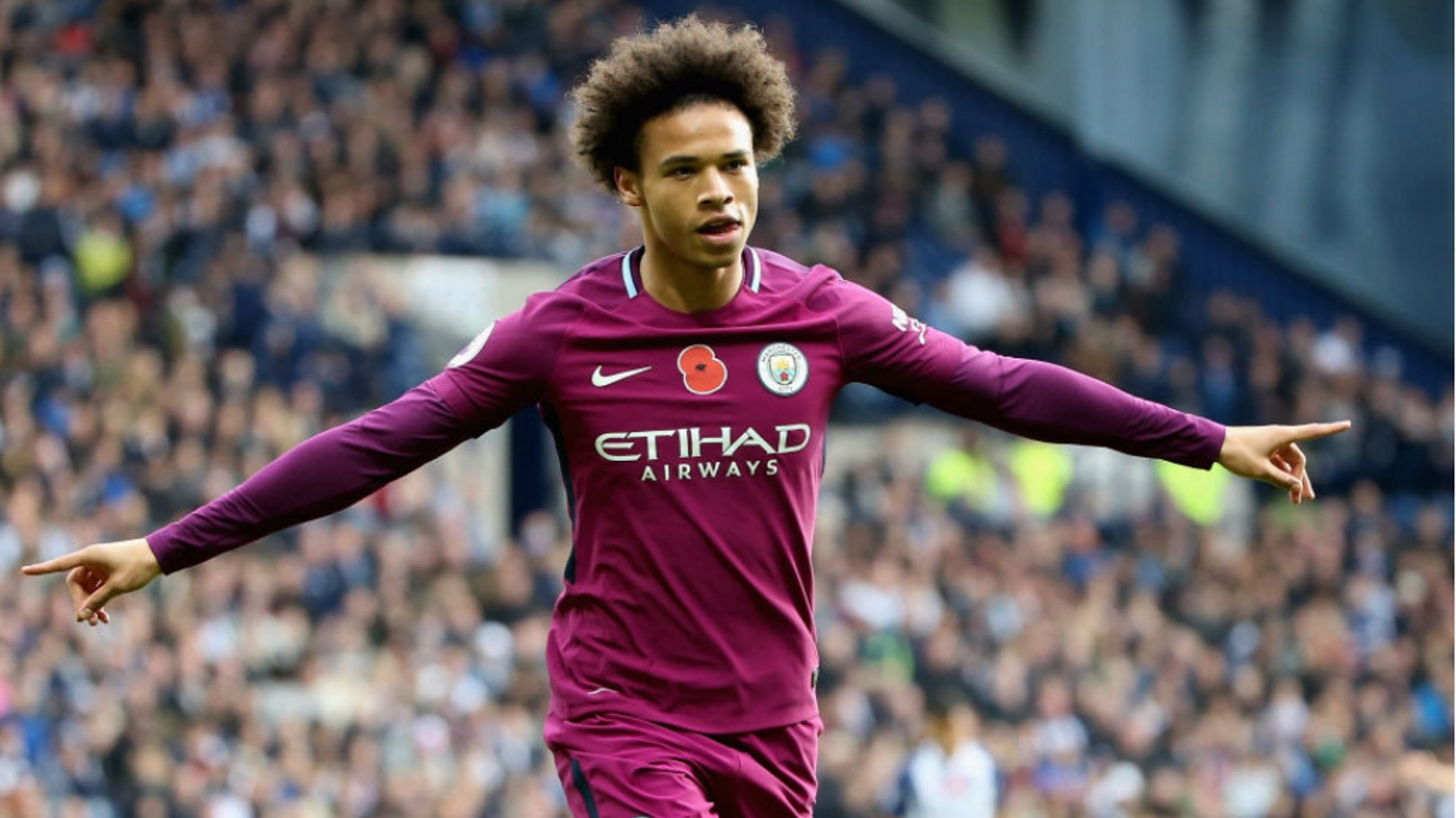 IN FORM: Sane was on the scoresheet again in a 3-2 win at West Brom