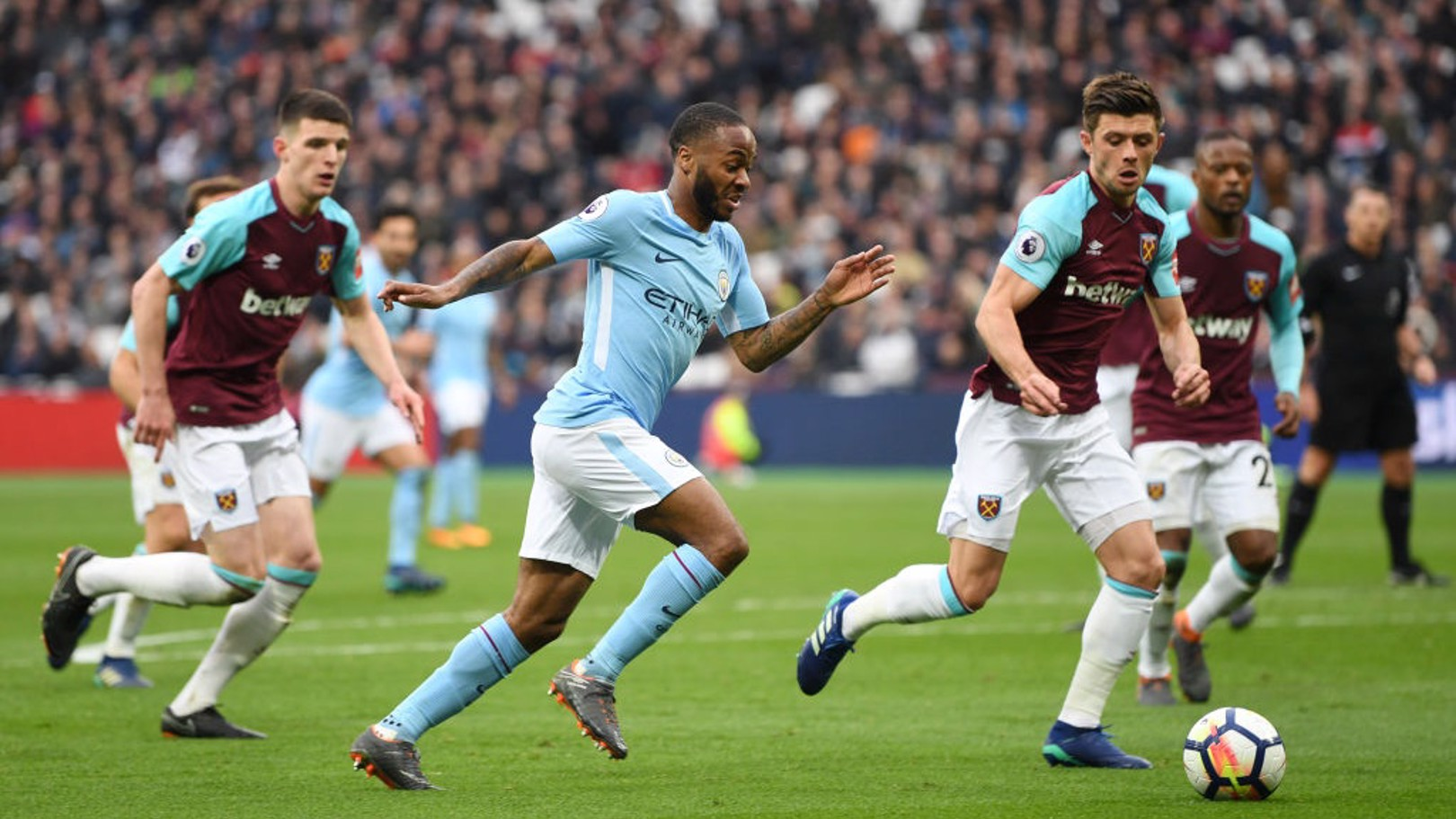 STERLING PLAY: Raheem has improved drastically this season