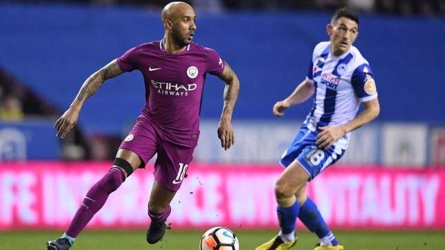 SEARCHING: Fabian Delph looks for a pass.