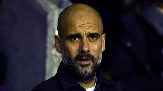 PEP WATCH: The City boss watches on from the bench.