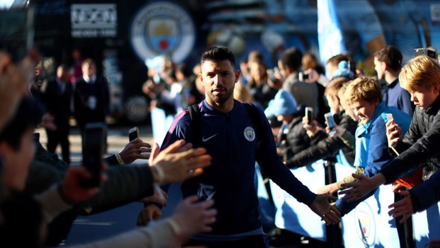 RECORD BREAKER: Sergio Aguero arrives at the Etihad for the first time as City's all-time leading goalscorer.