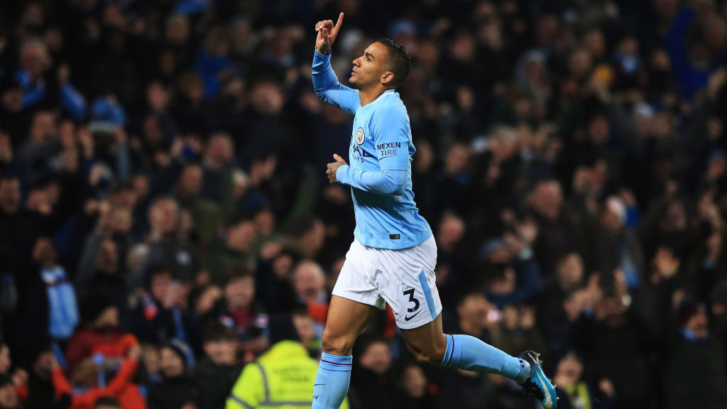 HOME AND HOSED: Danilo's strike seals City's 17th-consecutive Premier League win.